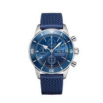 Breitling Superocean Heritage Chronograph Сталь 44mm Синий Без цифр