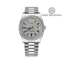 Rolex White gold Automatic No numerals 41mm pre-owned Day-Date II