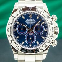 Rolex White gold Automatic Blue 40mm pre-owned Daytona