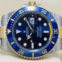 Rolex Submariner Date Or/Acier 41mm Bleu