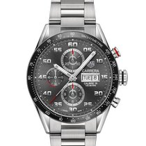 TAG Heuer Carrera Calibre 16 Steel 43mm Grey Arabic numerals