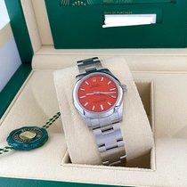 Rolex Oyster Perpetual 31 Aço 31mm Vermelho Sem números