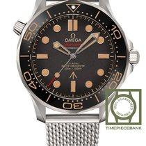 Omega Titane Remontage automatique Brun Sans chiffres 42mm nouveau Seamaster Diver 300 M