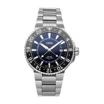 Oris Aquis GMT Date Steel 43.5mm Blue No numerals United States of America, Pennsylvania, Bala Cynwyd