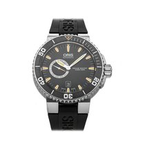 Oris Aquis Small Second pre-owned 46mm Black Date Rubber
