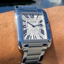 Cartier Tank Anglaise Steel 47mm White Roman numerals United States of America, Florida, Fort Lauderdale