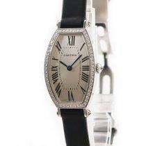 Cartier Tonneau Weißgold Silber