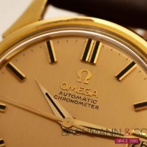 Omega Constellation pre-owned 35mm Gold Date Leather