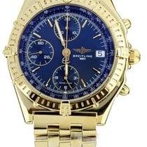 Breitling Chronomat Yellow gold 40mm Blue