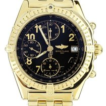 Breitling Yellow gold Automatic Black 40mm pre-owned Chronomat