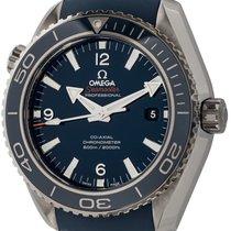 Omega Титан Автоподзавод Синий 45mm подержанные Seamaster Planet Ocean
