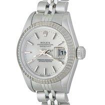 Rolex Lady-Datejust Acier 25mm Argent Romains