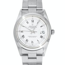 Rolex Oyster Perpetual 34 Steel 34mm White No numerals