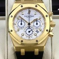 Audemars Piguet Royal Oak Chronograph Gelbgold 39mm Weiß Keine Ziffern