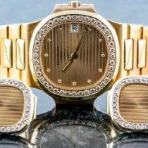 Patek Philippe Nautilus Желтое золото 36mm Цвета шампань Без цифр