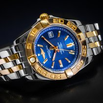 Breitling Galactic 32 Gold/Steel 32mm Blue No numerals