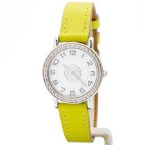 Hermès Sellier Stal 24mm Biały Arabskie