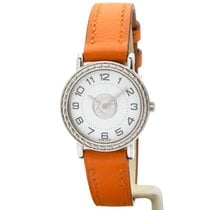 Hermès Sellier Steel White Arabic numerals