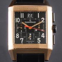 Jaeger-LeCoultre Reverso Squadra Chronograph GMT Aur roz Negru