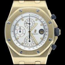 Audemars Piguet Κίτρινο χρυσό Αυτόματη Άσπρο Xωρίς ψηφία 42mm μεταχειρισμένο Royal Oak Offshore Chronograph