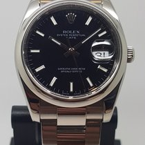 Rolex Oyster Perpetual Date Ατσάλι 34mm Μαύρο Xωρίς ψηφία
