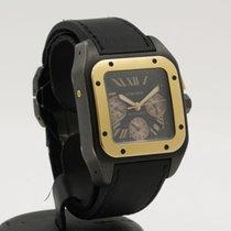 Cartier Титан Автоподзавод Черный Без цифр 40mm подержанные Santos 100