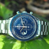 Omega Steel Manual winding Blue No numerals 42mm pre-owned Speedmaster Professional Moonwatch