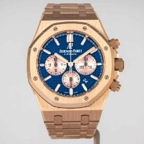 Audemars Piguet Royal Oak Chronograph Rose gold 41mm Blue No numerals United States of America, Massachusetts, Boston
