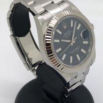 Rolex Datejust II Сталь 41mm Синий Без цифр