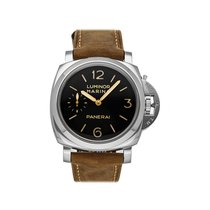 Panerai Aço Corda manual Preto 47mm usado Luminor Marina 1950 3 Days