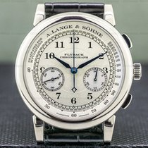 A. Lange & Söhne 1815 pre-owned 39mm Silver Chronograph Flyback Buckle