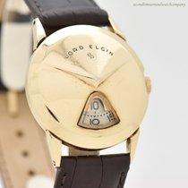 Elgin Oro amarillo Cuerda manual Arábigos 31mm usados