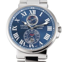Ulysse Nardin Marine Chronometer 43mm Сталь 43mm Синий Римские