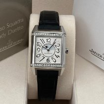 Jaeger-LeCoultre Reverso Squadra Lady Duetto Stahl 29mm Weiß