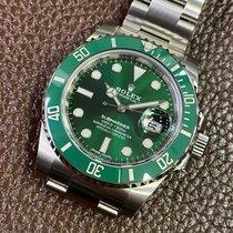 Rolex Acero Automático Verde Sin cifras usados Submariner Date