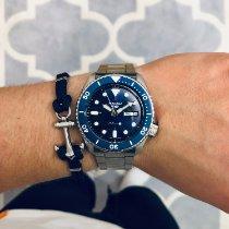 Seiko 5 Sports Acier 42.5mm Bleu Sans chiffres