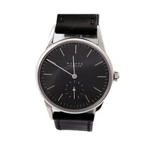 NOMOS Orion pre-owned 35mm Black Date Leather
