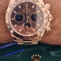 Rolex Rose gold Automatic Brown No numerals 40mm pre-owned Daytona