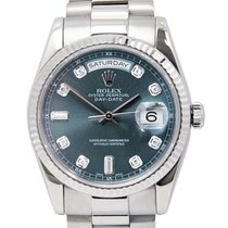Rolex Day-Date 36 White gold 36mm Blue No numerals United States of America, Florida, Boca Raton