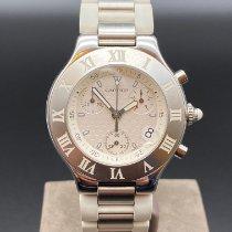 Cartier 21 Chronoscaph Stahl 38mm Weiß Keine Ziffern Deutschland, Langerwehe
