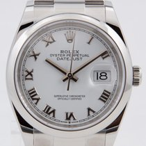 Rolex Datejust Staal 36mm Wit