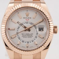 Rolex Sky-Dweller Or rose 42mm Argent