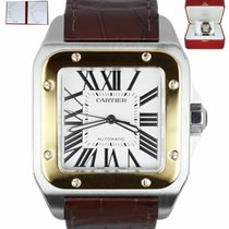 Cartier Santos 100 Gold/Steel 38mm Roman numerals United States of America, New York, Smithtown