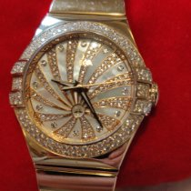 Omega Red gold Automatic Mother of pearl pre-owned Constellation Ladies