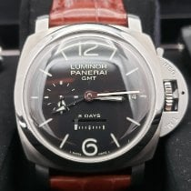 Panerai Luminor 1950 8 Days GMT Steel 44mm Black Arabic numerals