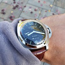 Panerai Luminor 1950 8 Days GMT Steel 44mm Black Arabic numerals United States of America, Illinois, Plainfield