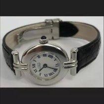 Cartier Silver Quartz White Roman numerals 24mm pre-owned Tank (submodel)