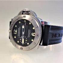 Panerai Luminor Submersible gebraucht 44mm Schwarz Datum Kautschuk