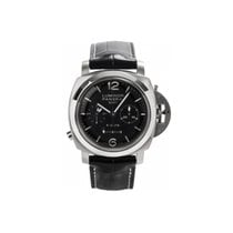 Panerai Acero Cuerda manual Negro Arábigos 44mm nuevo Luminor 1950 8 Days Chrono Monopulsante GMT