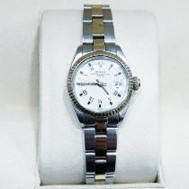 Rolex Oyster Perpetual Lady Date Or/Acier 26mm Blanc Sans chiffres